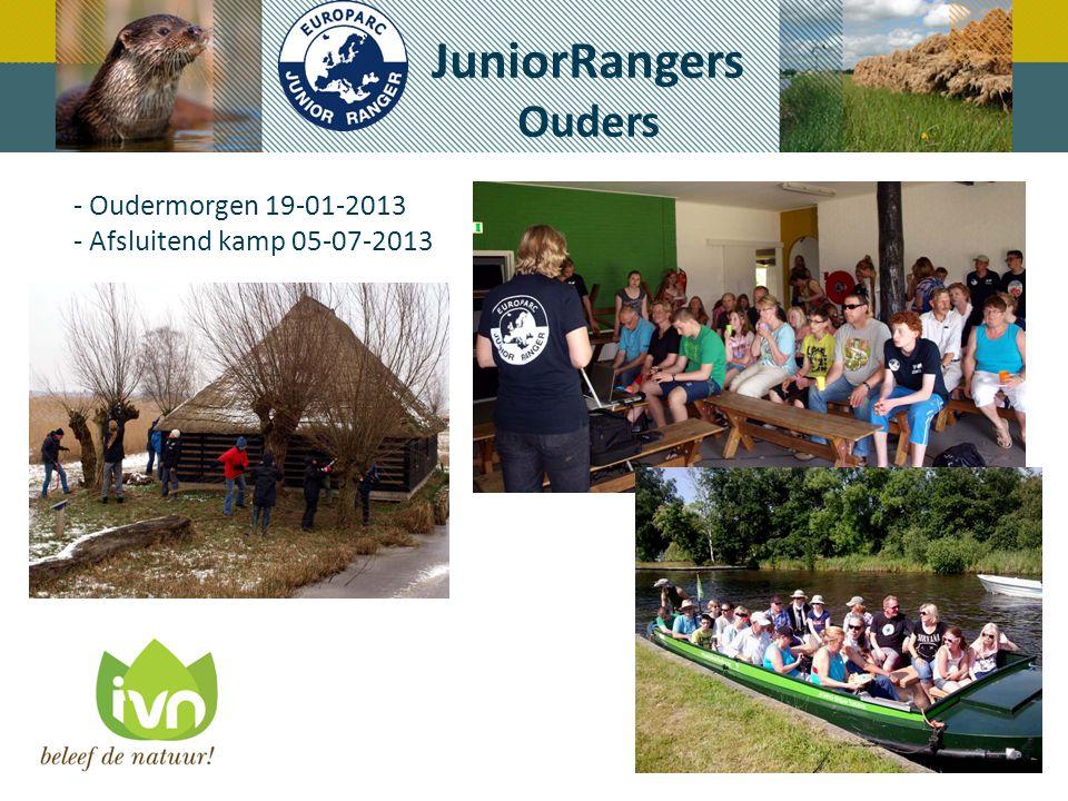 JuniorRangers Ouders - Oudermorgen 19-01-2013 - Afsluitend kamp 05-07-2013