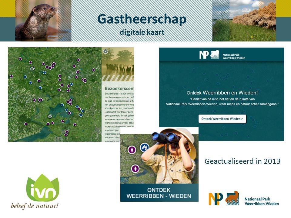 Gastheerschap digitale kaart Geactualiseerd in 2013