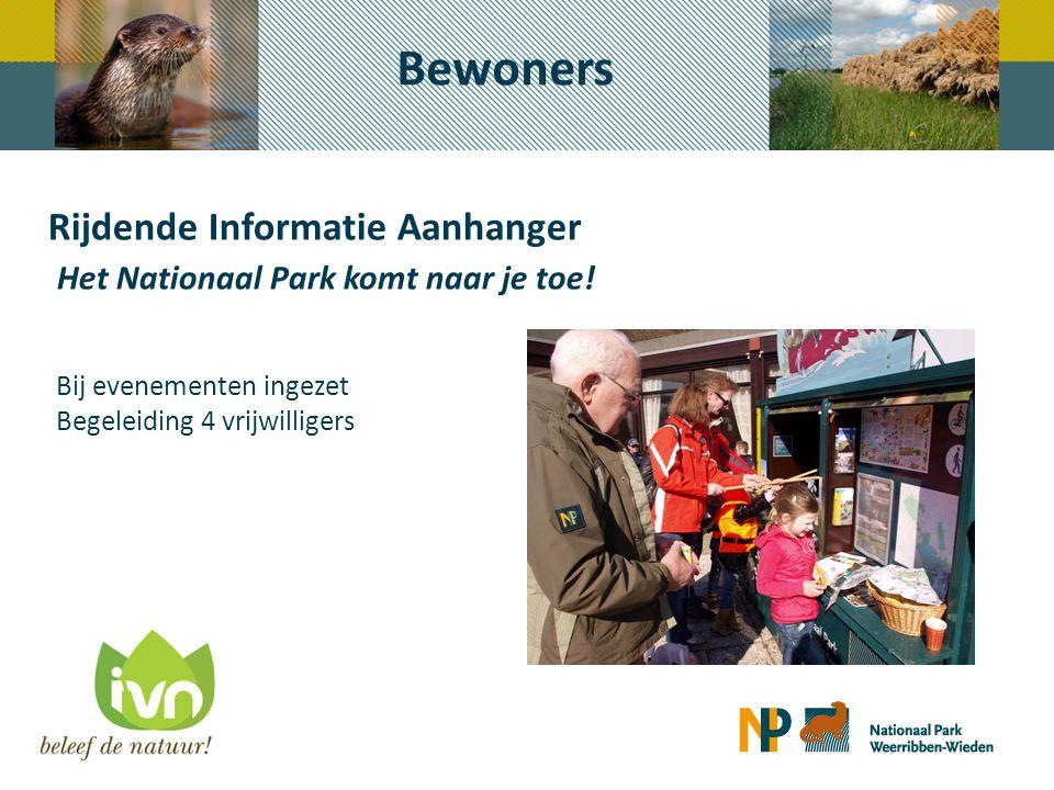 Bewoners Rijdende Informatie Aanhanger Het Nationaal Park komt naar je toe! Bij evenementen ingezet Begeleiding 4 vrijwilligers