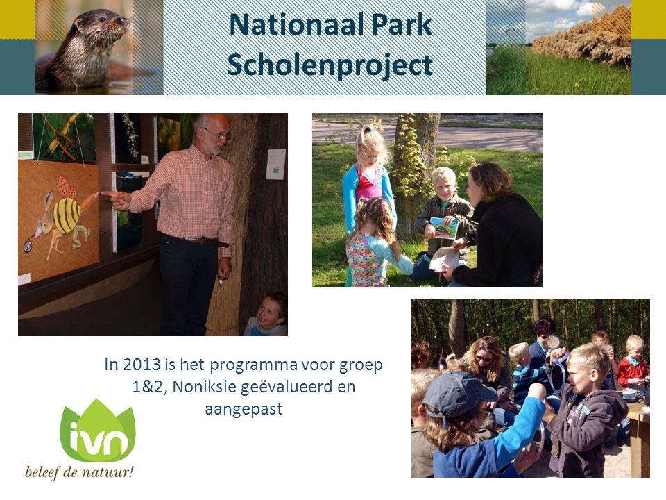 Nationaal Park Scholenproject In 2013 is het programma voor groep 1&2, Noniksie geëvalueerd en aangepast