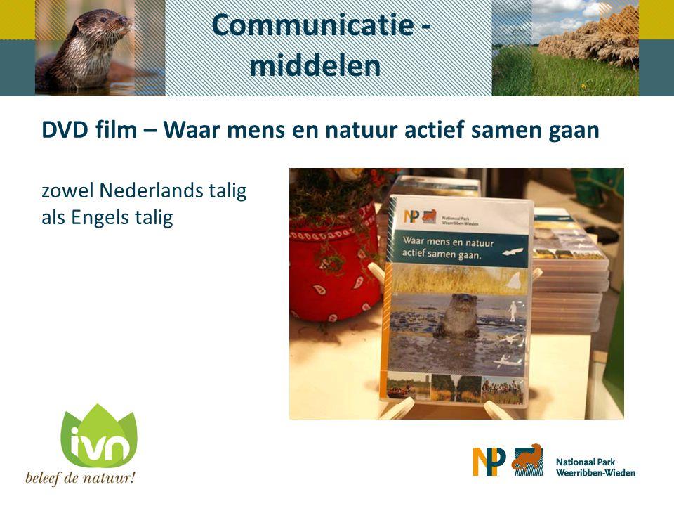 DVD film – Waar mens en natuur actief samen gaan zowel Nederlands talig als Engels talig Communicatie - middelen