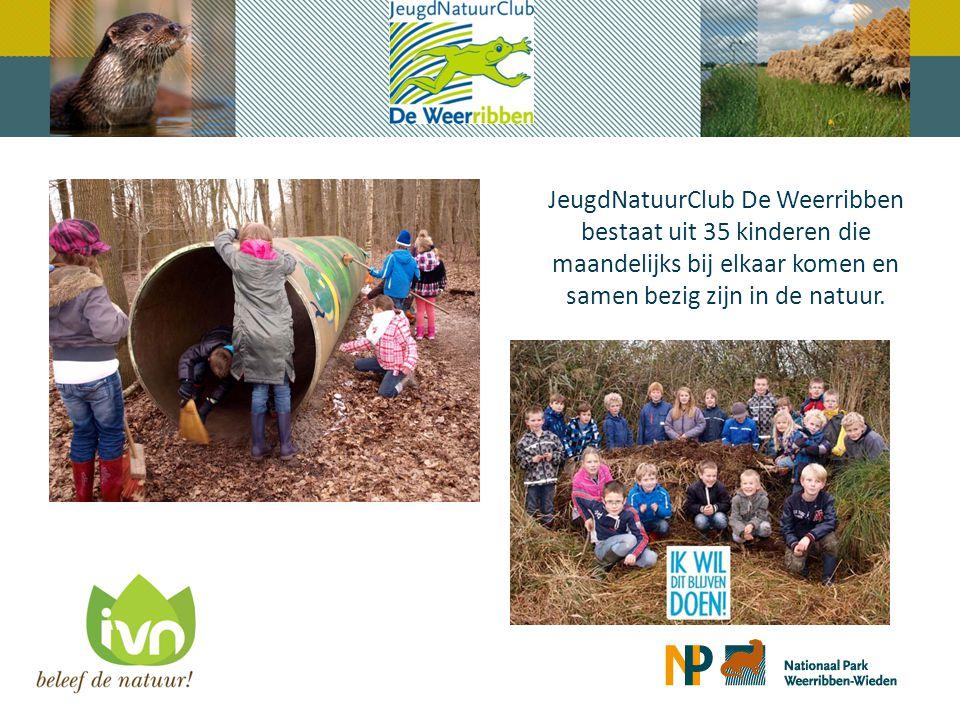 JeugdNatuurClub De Weerribben bestaat uit 35 kinderen die maandelijks bij elkaar komen en samen bezig zijn in de natuur.