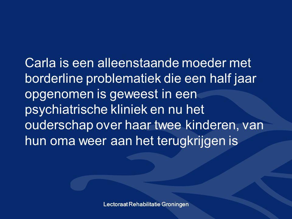 Lectoraat Rehabilitatie Groningen Jan is een man met een langdurige depressie die de bezoekregeling met zijn dochter inhoud probeert te geven.
