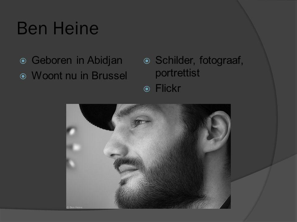 Ben Heine  Geboren in Abidjan  Woont nu in Brussel  Schilder, fotograaf, portrettist  Flickr
