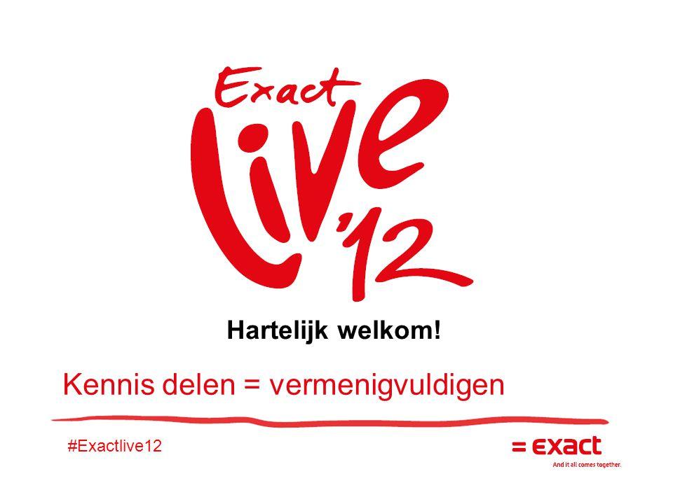 #Exactlive12 Kennis delen = vermenigvuldigen Hartelijk welkom!