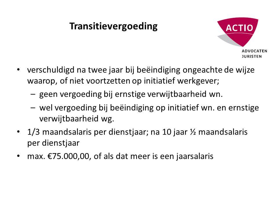 Transitievergoeding (2) • habe nichts/habe wenig ; vergoeding lager of nihil bij slechte financiële situatie wg.