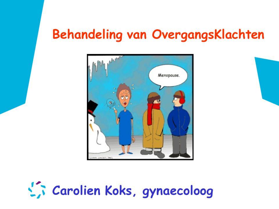 Behandeling van OvergangsKlachten Carolien Koks, gynaecoloog