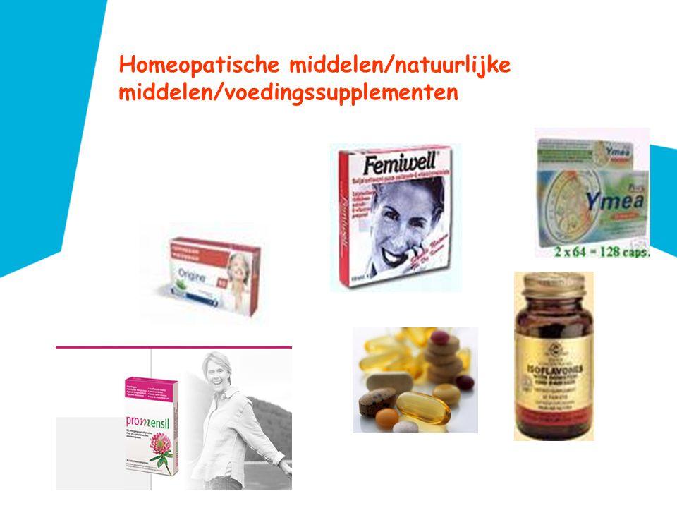 Homeopatische middelen/natuurlijke middelen/voedingssupplementen