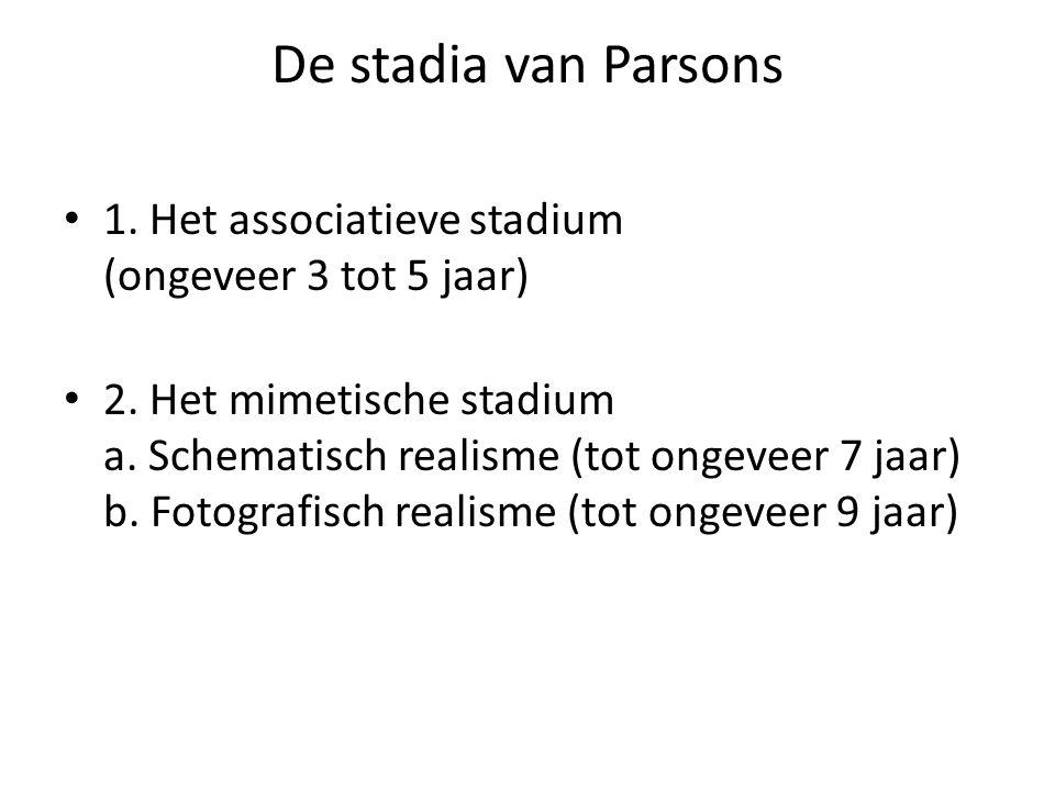 De stadia van Parsons • 1.Het associatieve stadium (ongeveer 3 tot 5 jaar) • 2.