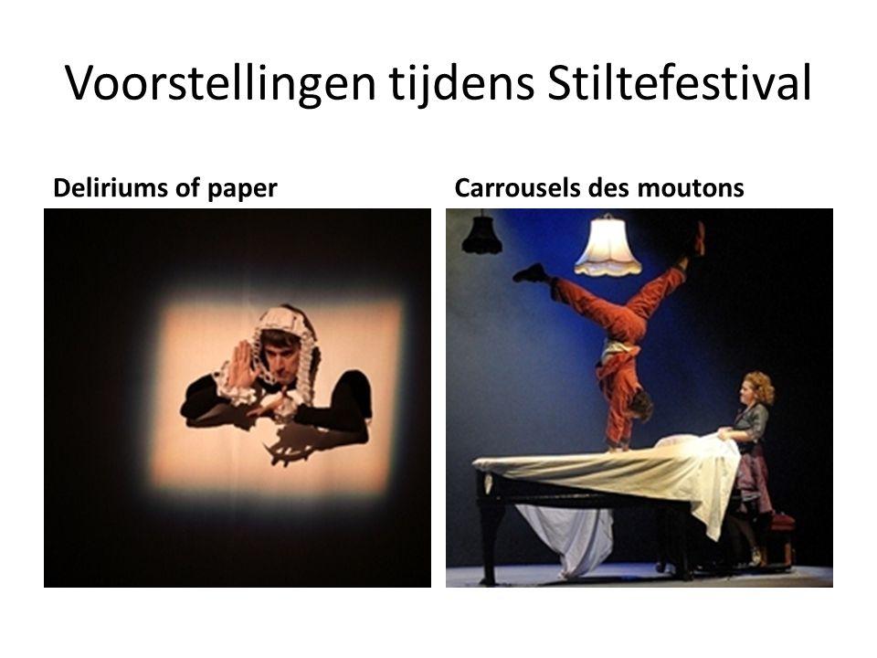 Voorstellingen tijdens Stiltefestival Deliriums of paperCarrousels des moutons
