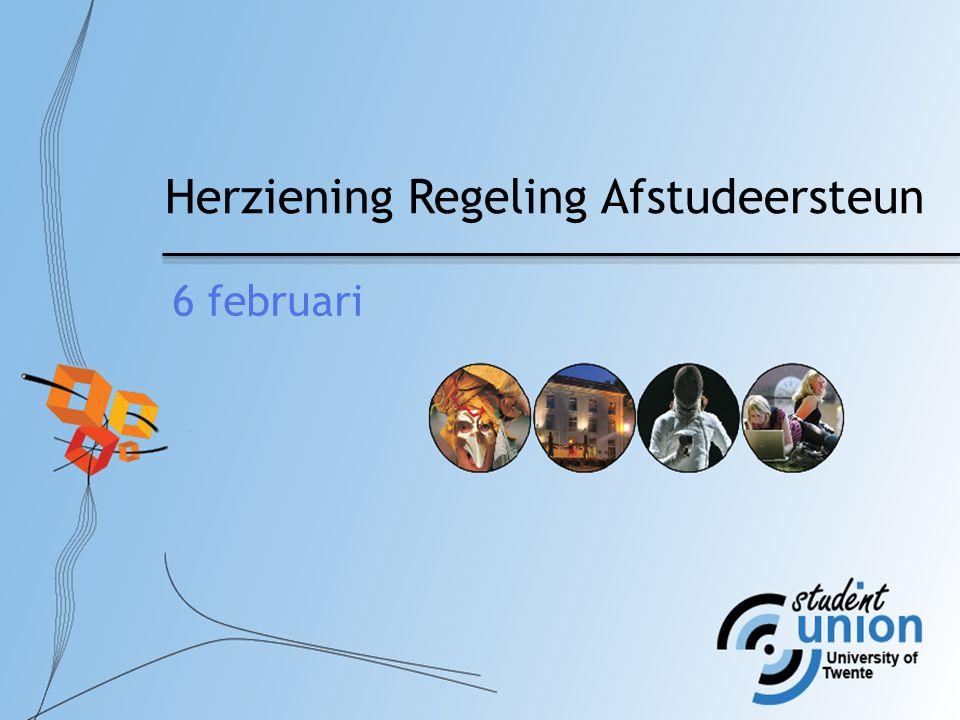 Herziening Regeling Afstudeersteun 6 februari