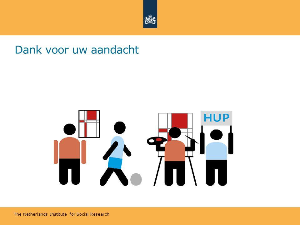 The Netherlands Institute for Social Research Dank voor uw aandacht