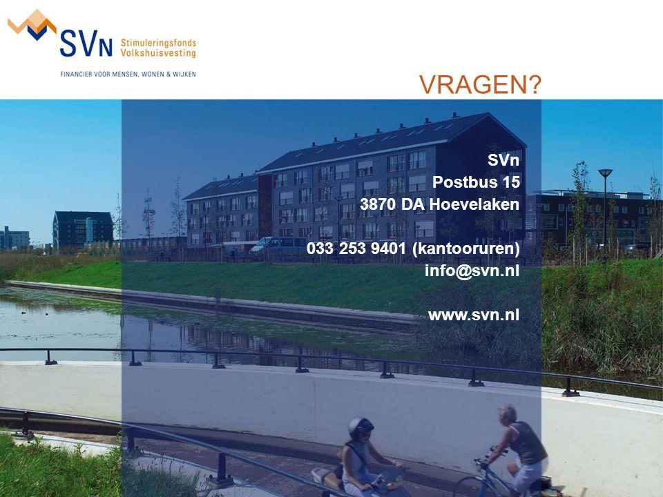 VRAGEN? SVn Postbus 15 3870 DA Hoevelaken 033 253 9401 (kantooruren) info@svn.nl www.svn.nl