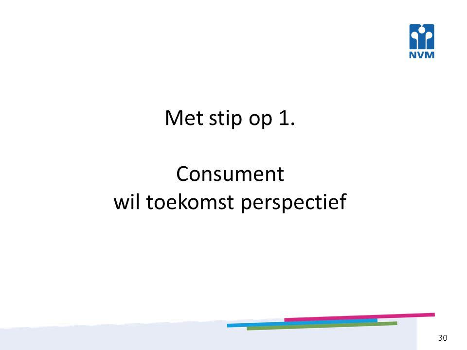 Met stip op 1. Consument wil toekomst perspectief 30
