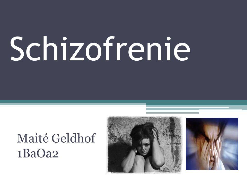 Schizofrenie Maité Geldhof 1BaOa2