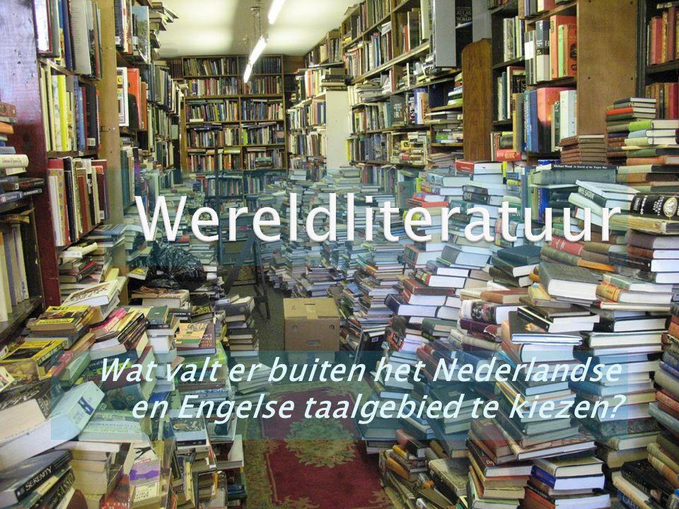  Lezen van een boek dat niet tot het Nederlandse of Engelse taalgebied hoort.