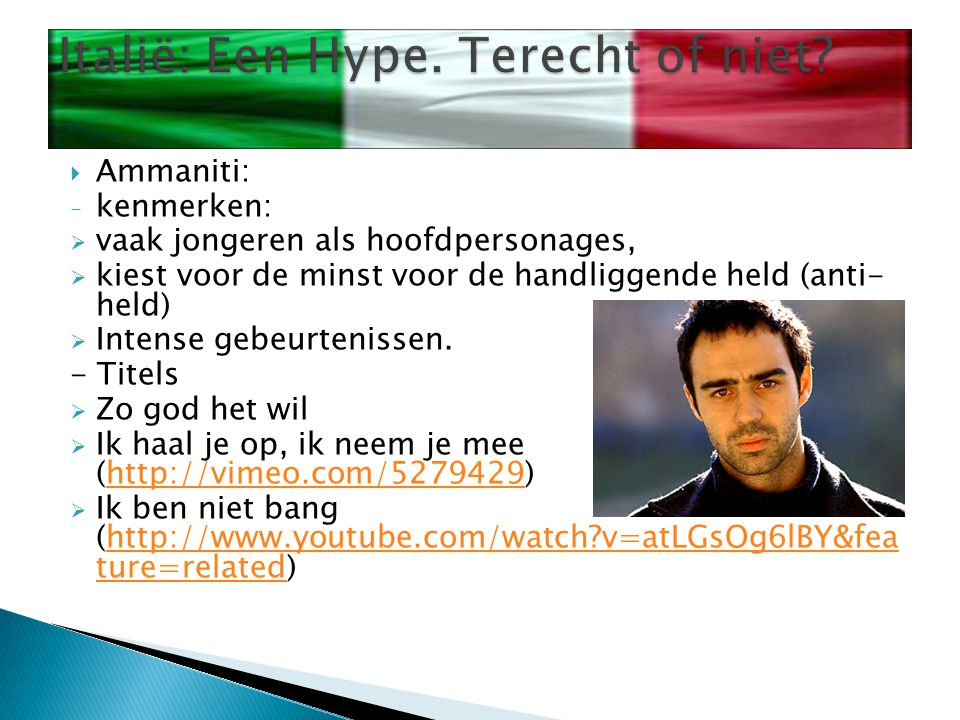  Veronsi: - Kenmerken:  meer diepgang  Mooi verhaal - Titels:  Kalme Chaos : http://www.youtube.com/watch?v=1owTf8TL PUk&NR=1 http://www.youtube.com/watch?v=1owTf8TL PUk&NR=1  Troje Brandt