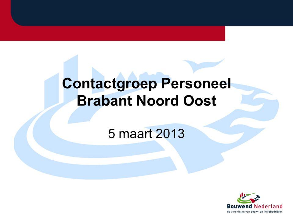 Contactgroep Personeel Brabant Noord Oost 5 maart 2013