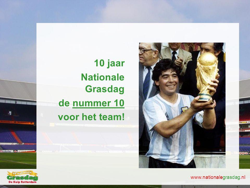 www.nationalegrasdag.nl 10 jaar Nationale Grasdag de nummer 10 voor het team!