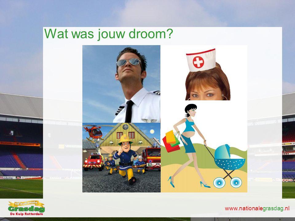 www.nationalegrasdag.nl Wat was jouw droom?