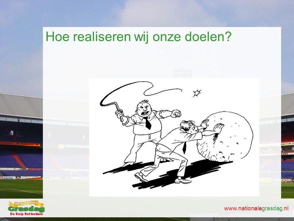www.nationalegrasdag.nl Hoe realiseren wij onze doelen?