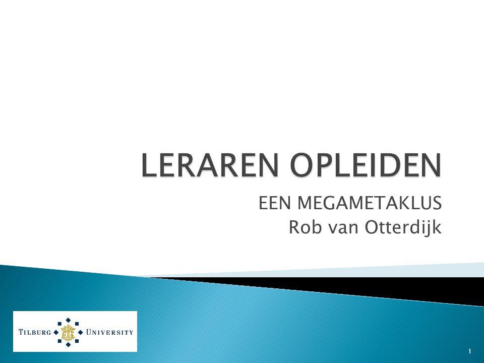 EEN MEGAMETAKLUS Rob van Otterdijk 1