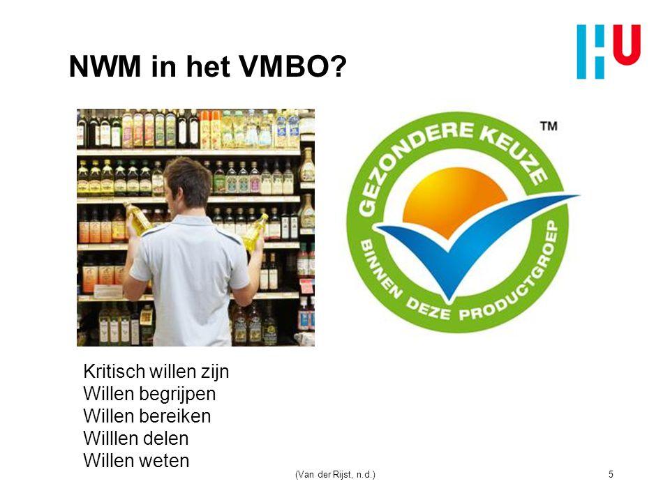 NWM in het VMBO.n Wat voor type onderzoek doe je door de jaren heen.