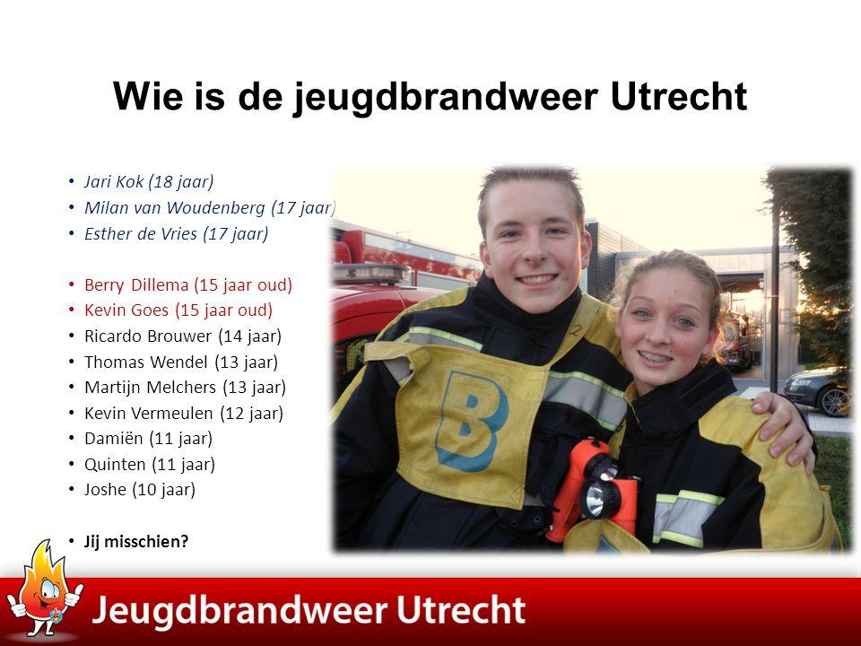 Wie is de jeugdbrandweer Utrecht • Opgericht op 1 januari 1963 (dit jaar 50 jaar) • Opgericht als vooropleiding voor je brandweer • Nu 1 van de 20 korpsen in de regio, • En 1 van de 150 in Nederland