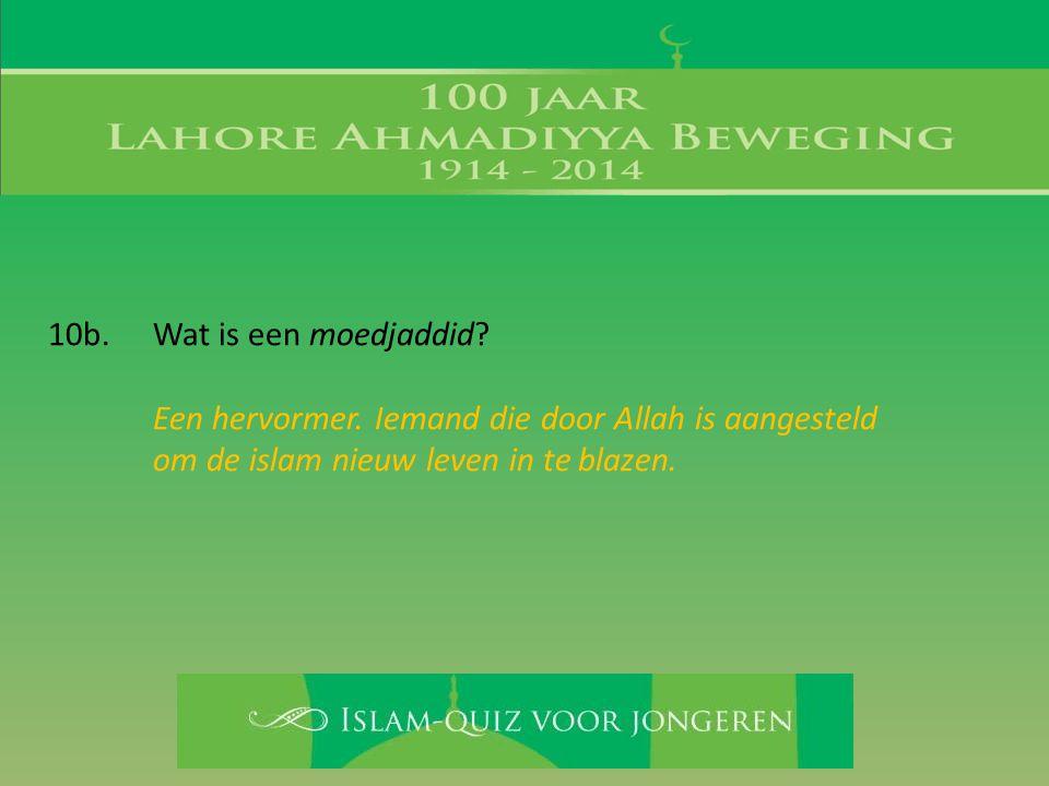 Een hervormer. Iemand die door Allah is aangesteld om de islam nieuw leven in te blazen.
