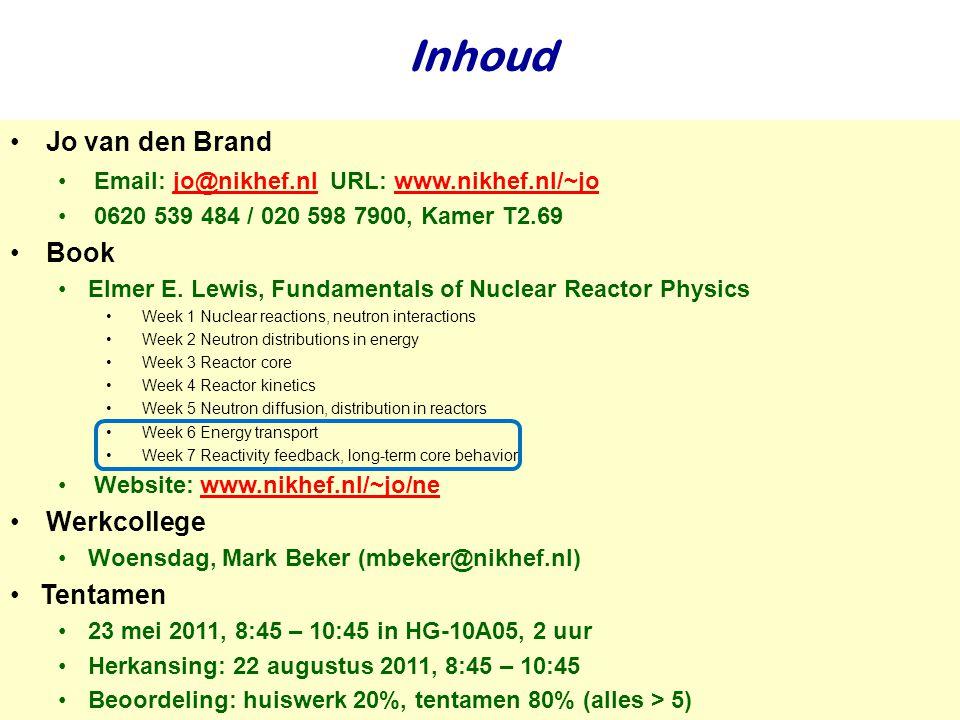 Najaar 2007Jo van den Brand33 Kernenergie en Nederland