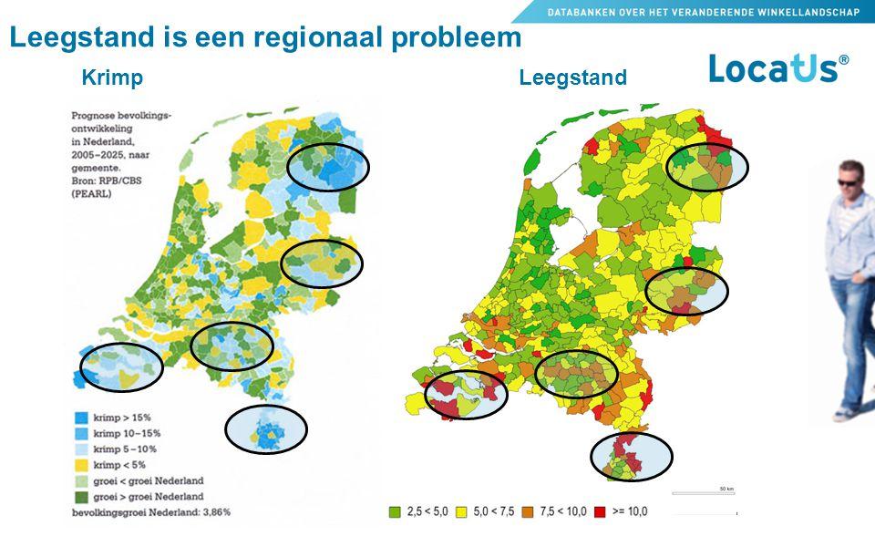 Krimp Leegstand Leegstand is een regionaal probleem