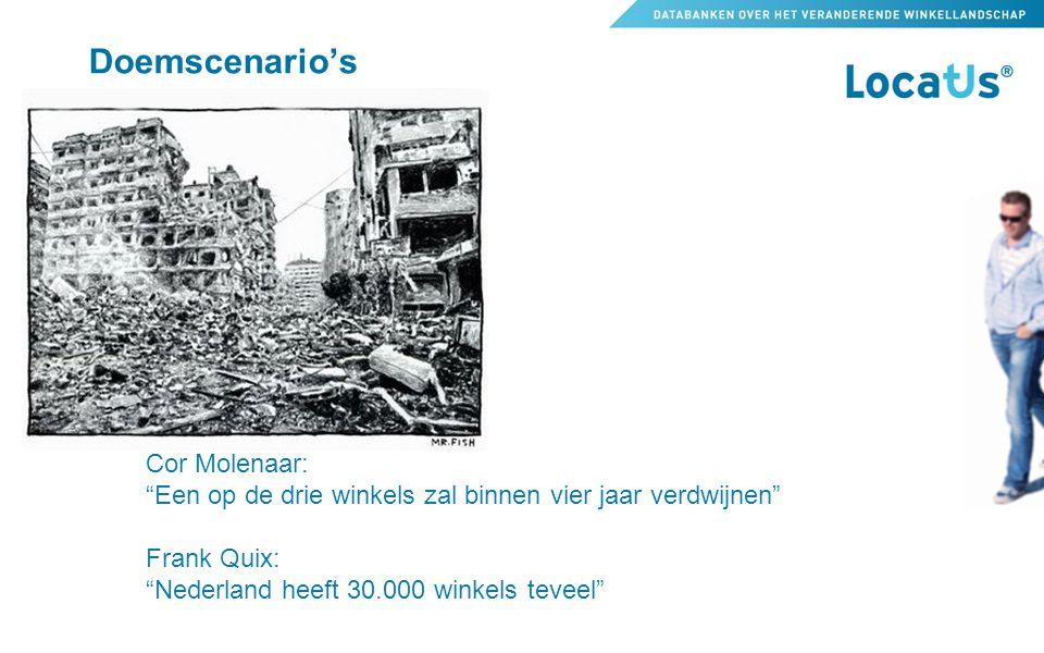 """Doemscenario's Cor Molenaar: """"Een op de drie winkels zal binnen vier jaar verdwijnen"""" Frank Quix: """"Nederland heeft 30.000 winkels teveel"""""""
