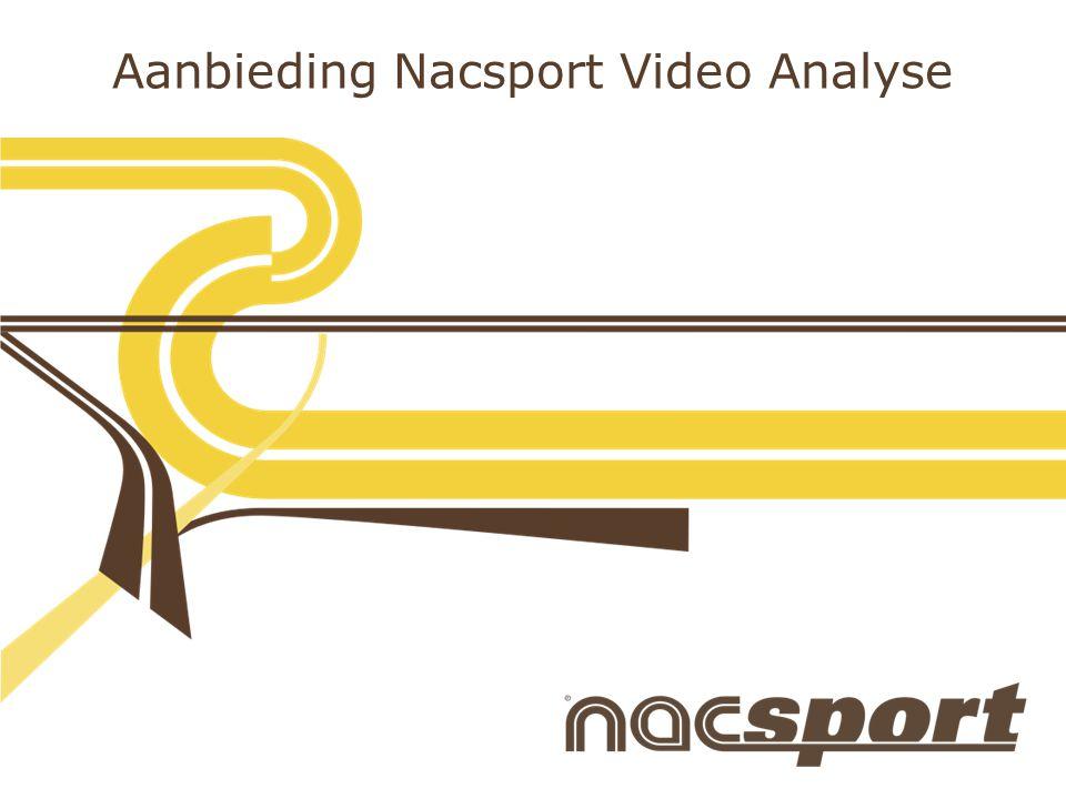 www.nacsport.com Aanbieding Nacsport Video Analyse Nacsport Scout Plus : Eerste in de reeks professionele versies.