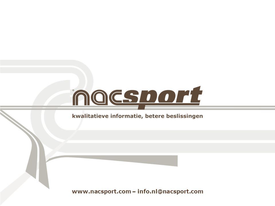 www.nacsport.com – info.nl@nacsport.com