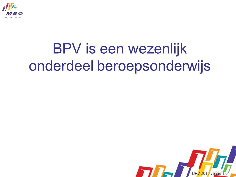 BPV is een wezenlijk onderdeel beroepsonderwijs
