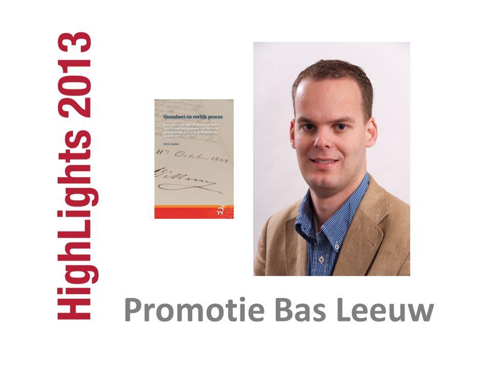 Promotie Bas Leeuw