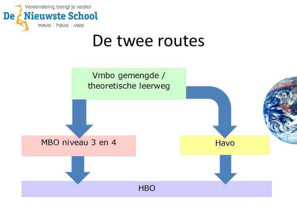 De twee routes