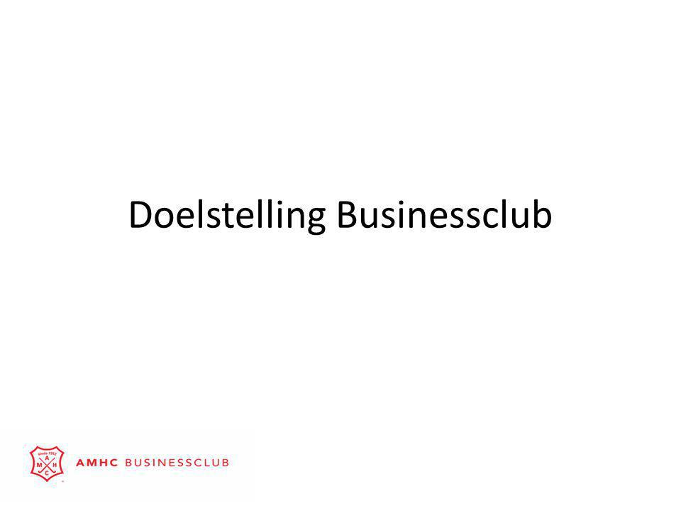Doelstelling Businessclub