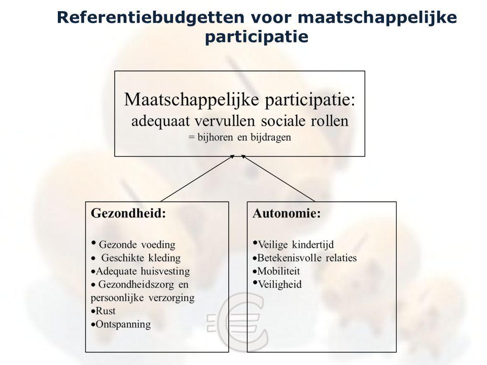 Referentiebudgetten voor maatschappelijke participatie