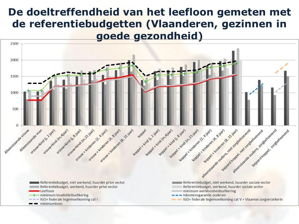 De doeltreffendheid van het leefloon gemeten met de referentiebudgetten (Vlaanderen, gezinnen in goede gezondheid)