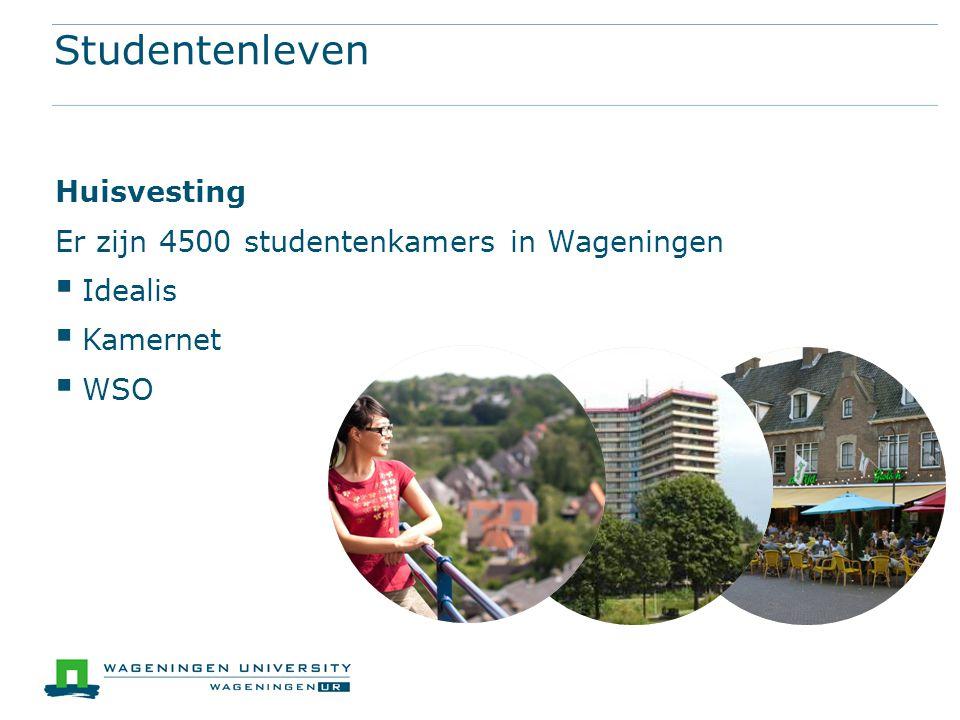 Studentenleven Huisvesting Er zijn 4500 studentenkamers in Wageningen  Idealis  Kamernet  WSO