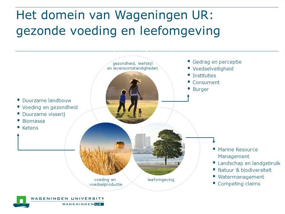leefomgeving Het domein van Wageningen UR: gezonde voeding en leefomgevingHet domein van Wageningen UR: gezonde voeding en leefomgeving voeding en voe