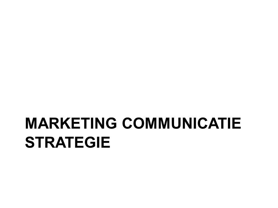 MCM valt samen met een juiste strategie •Om de juiste doelgroep te bereiken •De juiste doelstellingen te behalen •De juiste effecten te beogen •De juiste middelen in te zetten