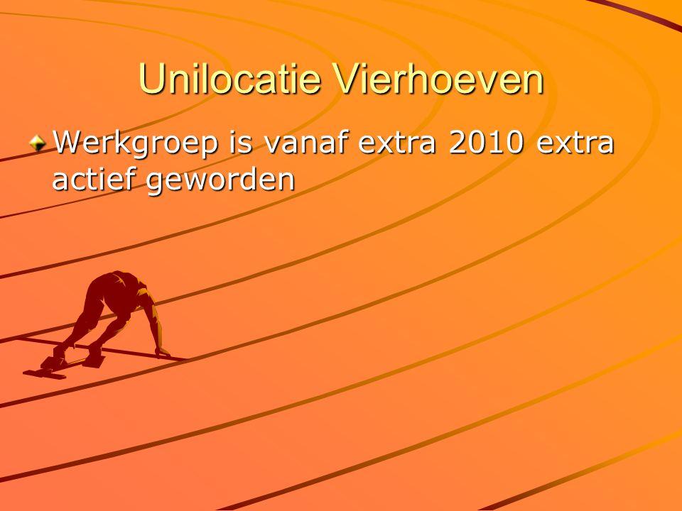Unilocatie Vierhoeven Werkgroep is vanaf extra 2010 extra actief geworden