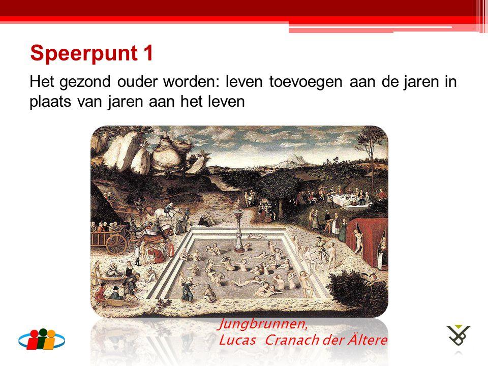 Het gezond ouder worden: leven toevoegen aan de jaren in plaats van jaren aan het leven Speerpunt 1 Jungbrunnen, Lucas Cranach der Ältere