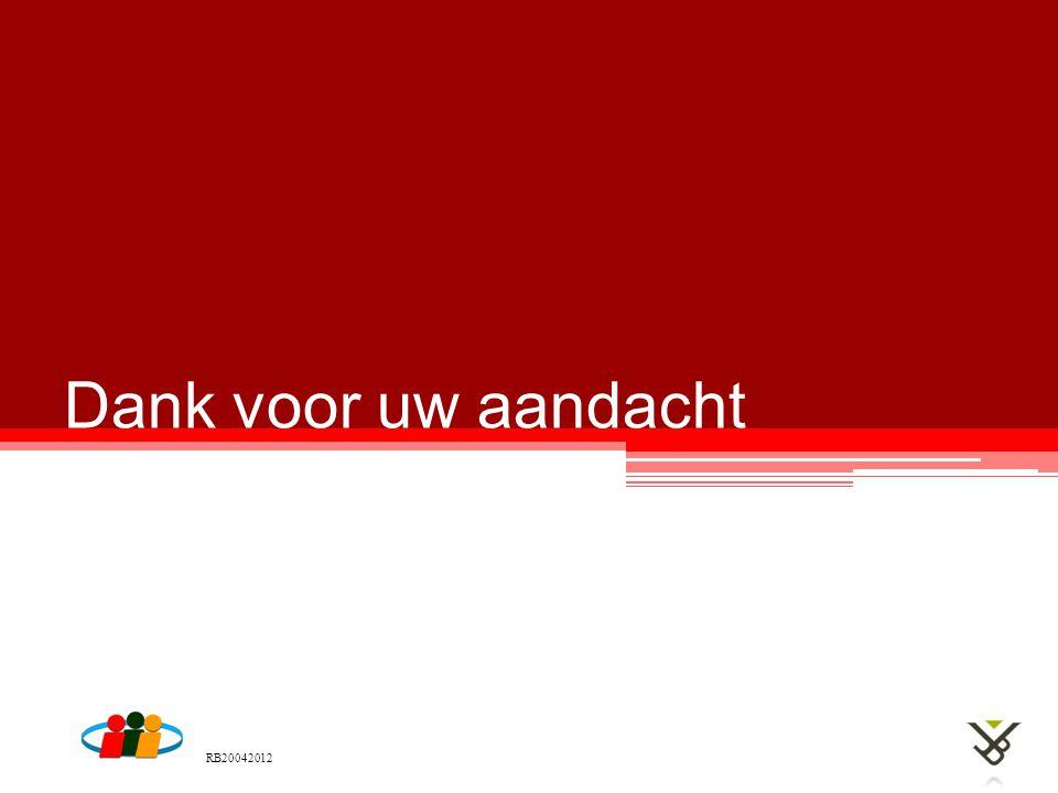 Dank voor uw aandacht RB20042012