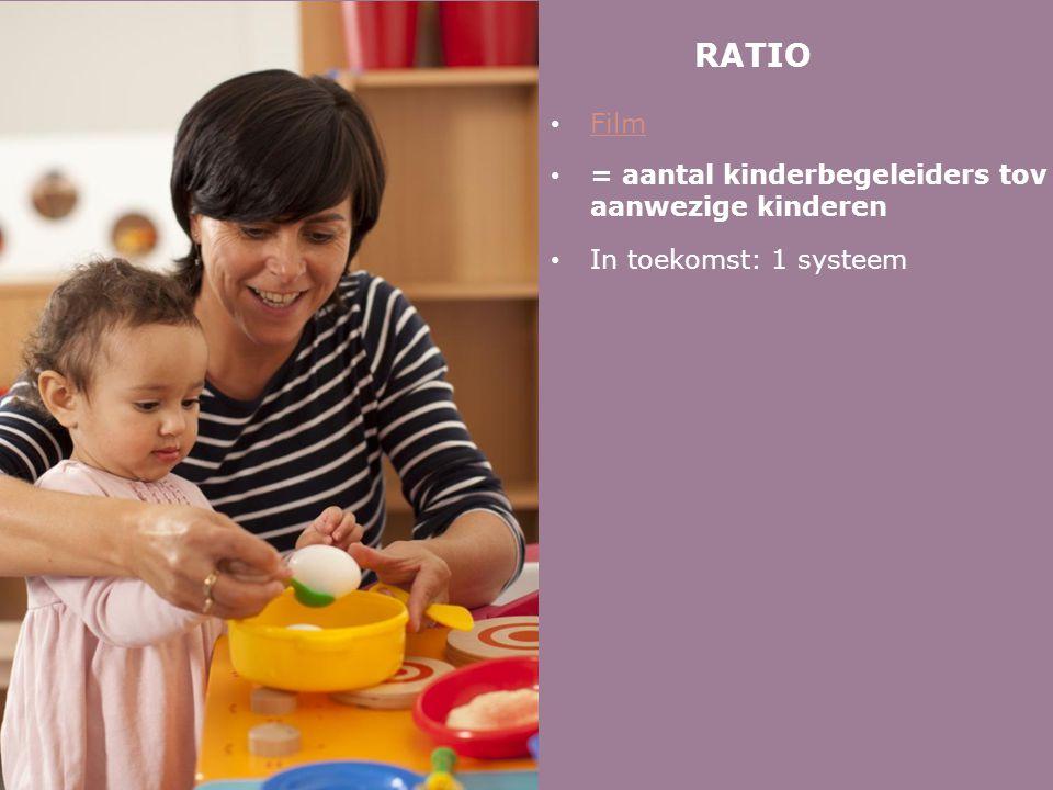 RATIO • Film Film • = aantal kinderbegeleiders tov aanwezige kinderen • In toekomst: 1 systeem