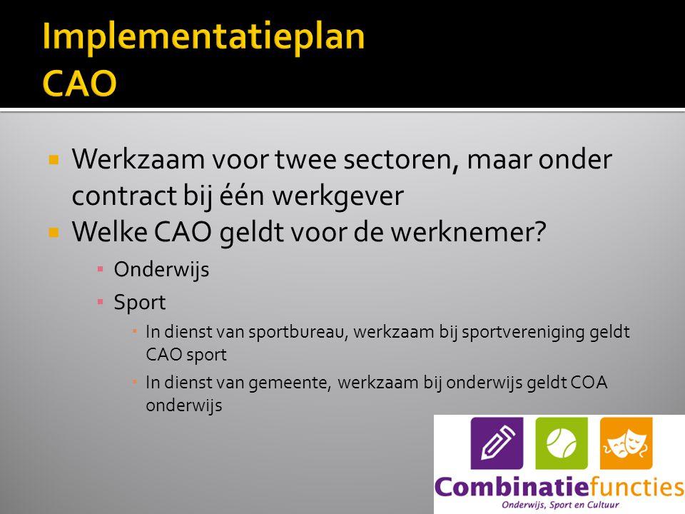  Werkzaam voor twee sectoren, maar onder contract bij één werkgever  Welke CAO geldt voor de werknemer.