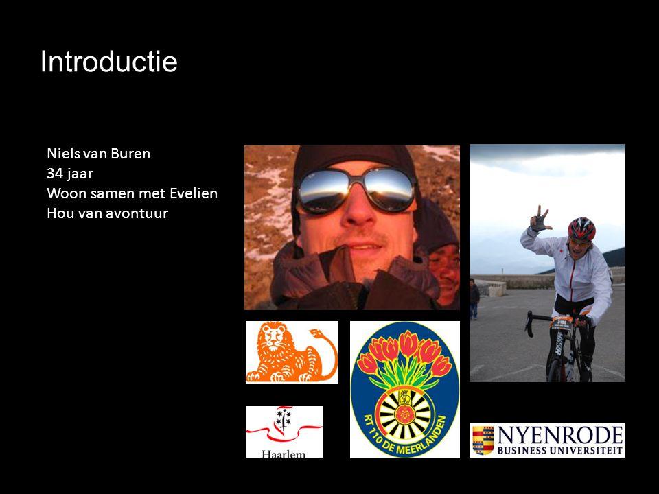 Introductie Niels van Buren 34 jaar Woon samen met Evelien Hou van avontuur