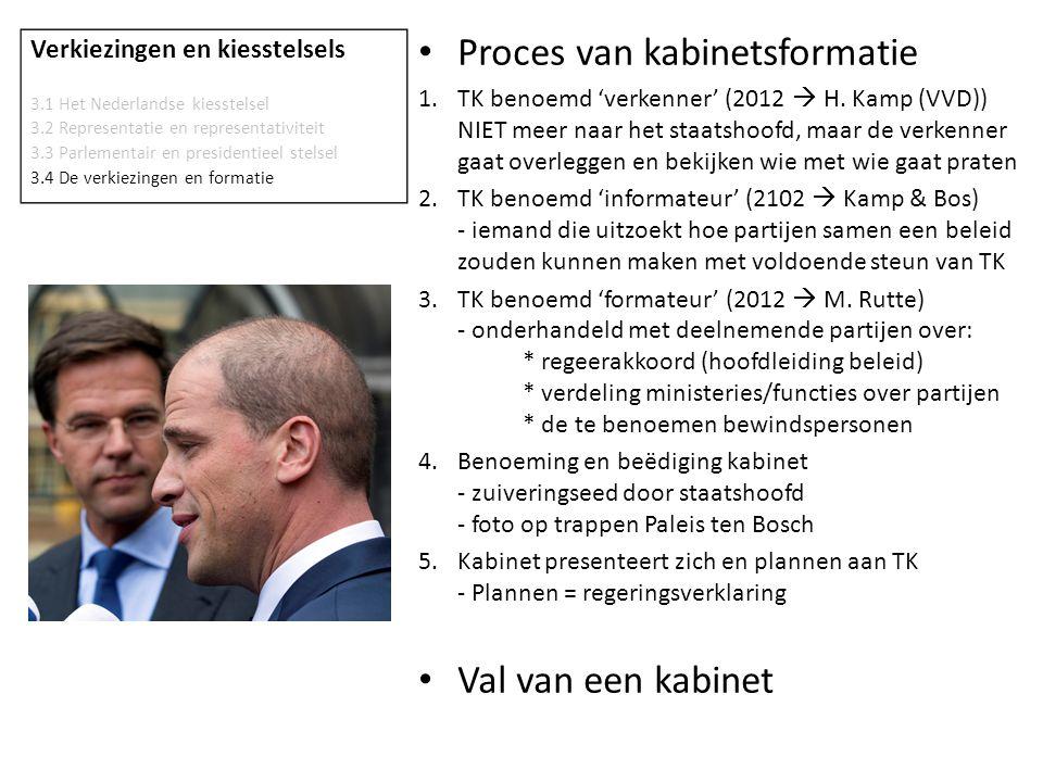 Verkiezingen en kiesstelsels 3.1 Het Nederlandse kiesstelsel 3.2 Representatie en representativiteit 3.3 Parlementair en presidentieel stelsel 3.4 De verkiezingen en formatie